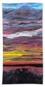 Sunset Over The Mississippi Beach Towel