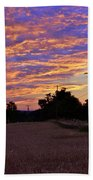 Sunset Over The Wheat Fields Beach Towel