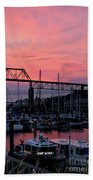 Sunset Port Beach Towel