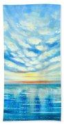 Sunset Quest Blue Beach Towel