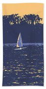 Sunset Race Beach Towel