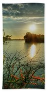 Sunset Reflection Beach Towel