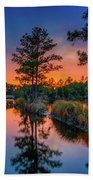 Sunset Reflections Beach Towel