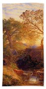 Sunset Beach Towel by Samuel Palmer