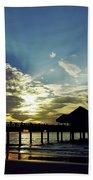 Sunset Silhouette Pier 60 Beach Towel