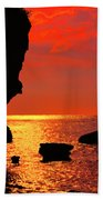 Sunset Silhouettes Beach Towel
