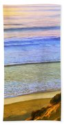 Sunset Surf At La Jolla Beach Towel