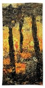 Sunset Through The Trees Beach Towel