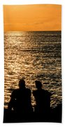 Sunset Together In Key West Beach Towel