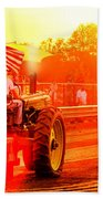 Sunset Tractor Pull Beach Towel