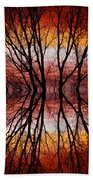 Sunset Tree Silhouette Abstract 2 Beach Towel