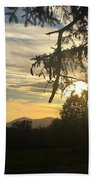 Sunset View From Olana  Beach Towel