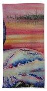 Sunset Watcher Beach Towel