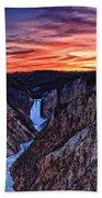 Sunset Waterfall Beach Towel