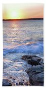 Sunset Waves Beach Towel