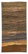 Sunset Waves Over Carmel Beach Beach Towel