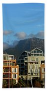 Sunset With Table Mountain Beach Towel