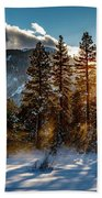 Sunset With Trees Beach Towel