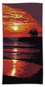 Sunset - Wonder Of Nature Beach Towel