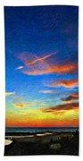 Sunset X Impasto Beach Sheet