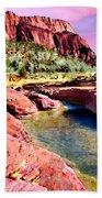 Sunset Zion National Park Beach Towel