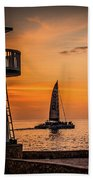 Sunsets And Sailboats Beach Towel