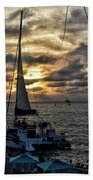 Sunsets And Sails Beach Towel