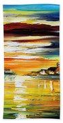 Sunset's Smile Beach Towel