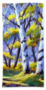 Sunshine And Birches Beach Towel