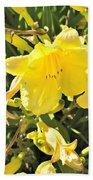 Sunshine And Flowers Beach Towel