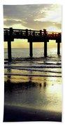 Sunshine At The Pier 60 Beach Towel