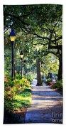 Sunshine On Savannah Sidewalk Beach Towel