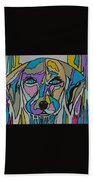 Super Hero - Contemporary Dog Art Beach Towel