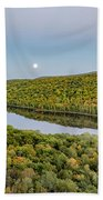 Super Moon Rise Sept. 27, 2015 Beach Towel