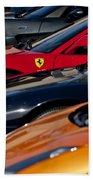 Supercars Ferrari Emblem Beach Towel