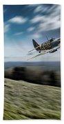 Supermarine Spitfire Fly Past Beach Towel
