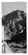 Superstition Mountain And Elvis Church Beach Towel