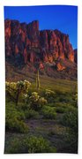 Superstition Mountain Sunset Beach Towel