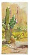 Superstition Saguaro Beach Towel