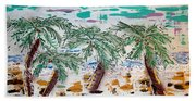 Surf And Palms Beach Towel