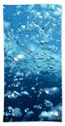 Surface Bubbles Beach Towel