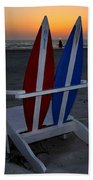 Surfboard Chair Sunset Beach Towel