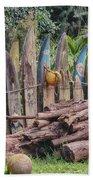 Surfboard Fence Hawaii Beach Towel