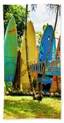 Surfboard Fence II-the Amazing Race Beach Towel