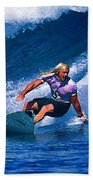 Surfer Dude Catching A Wave Beach Towel