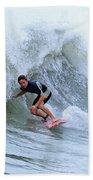 Surfing Bogue Banks 3 Beach Towel