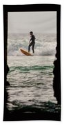 Surfing By The Pier Beach Towel