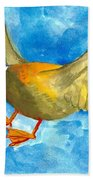 Surprised Flying Duck Detail Of Duck Meets Fairy Ballet Class Beach Towel