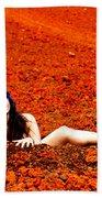 Surprised Martian Hatching Beach Towel