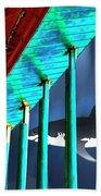 Surreal Bridge Shark Cage Beach Towel